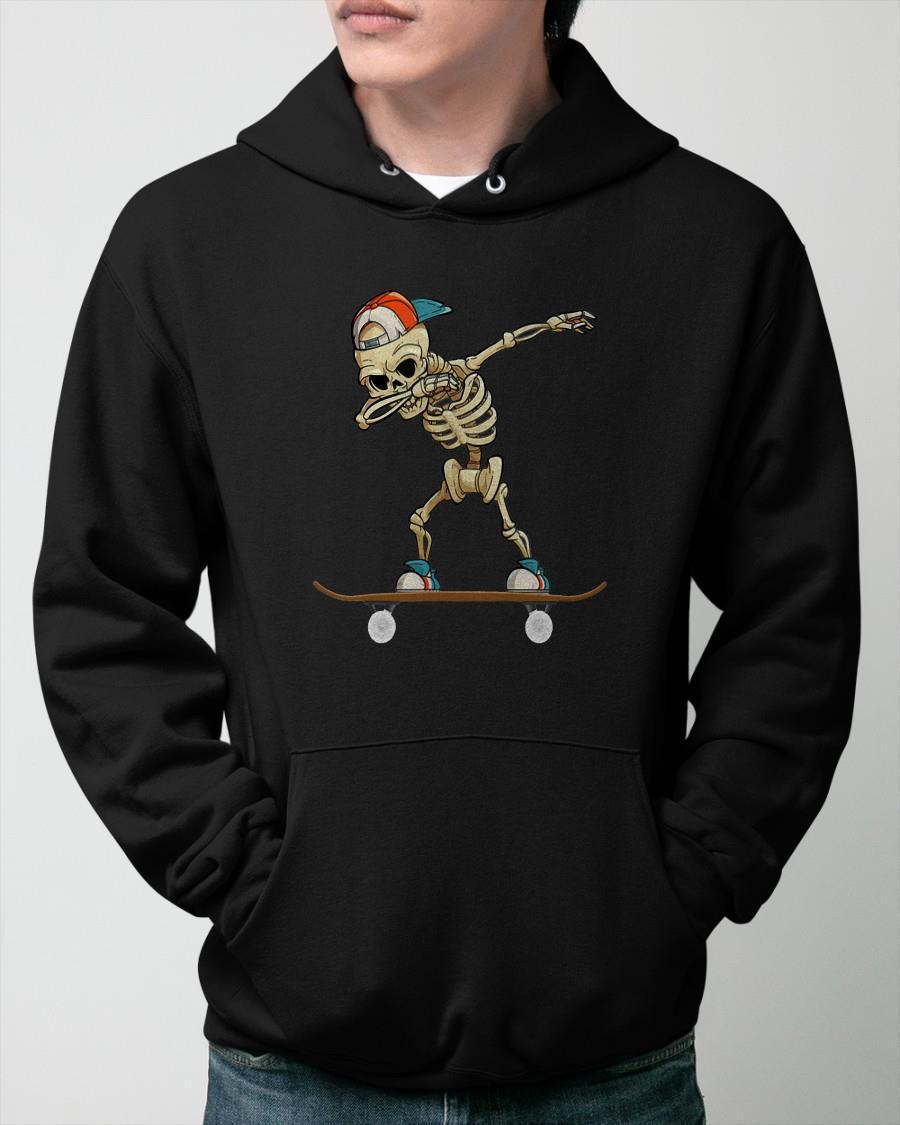 Skateboard Dabbing Skeleton Hoodie