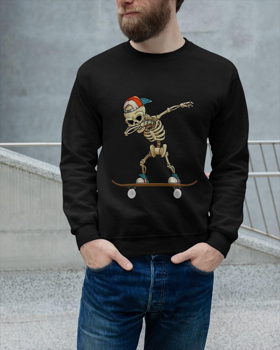 Skateboard Dabbing Skeleton Longsleeve