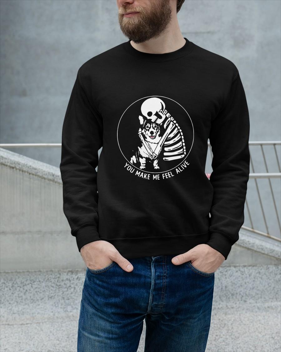 Skull And Corgi You Make Me Feel Alive Tank Top