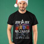 Star Trek 55 Years 1966 2021 Thank You For The Memories Shirt