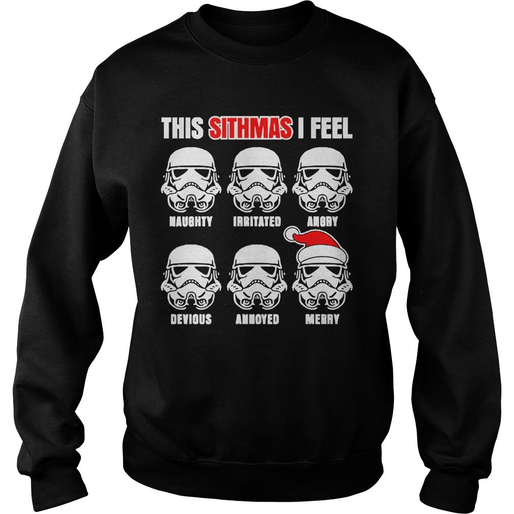 Star Wars Santa Stormtrooper This Sithmas I Feel Sweater