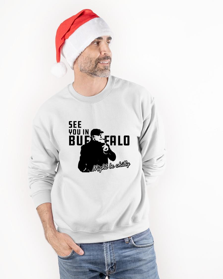 Steve Tasker See You In Buffalo Might Be Chilly Sweater