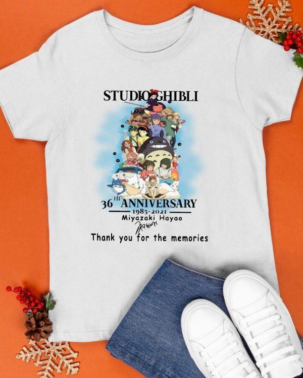 Studio Ghibli 36th Anniversary 1985 2021 Miyazaki Hayao Shirt