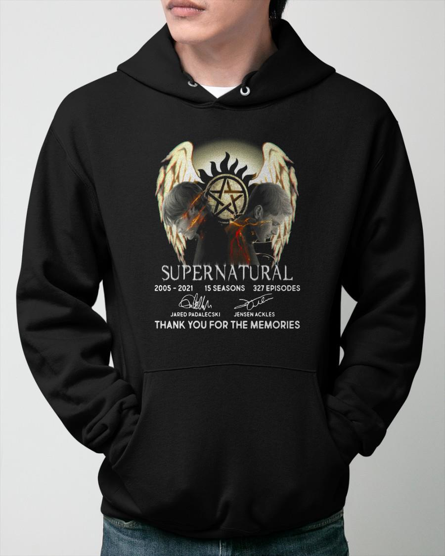 Supernatural 2005 2021 Thank You For The Memories Hoodie