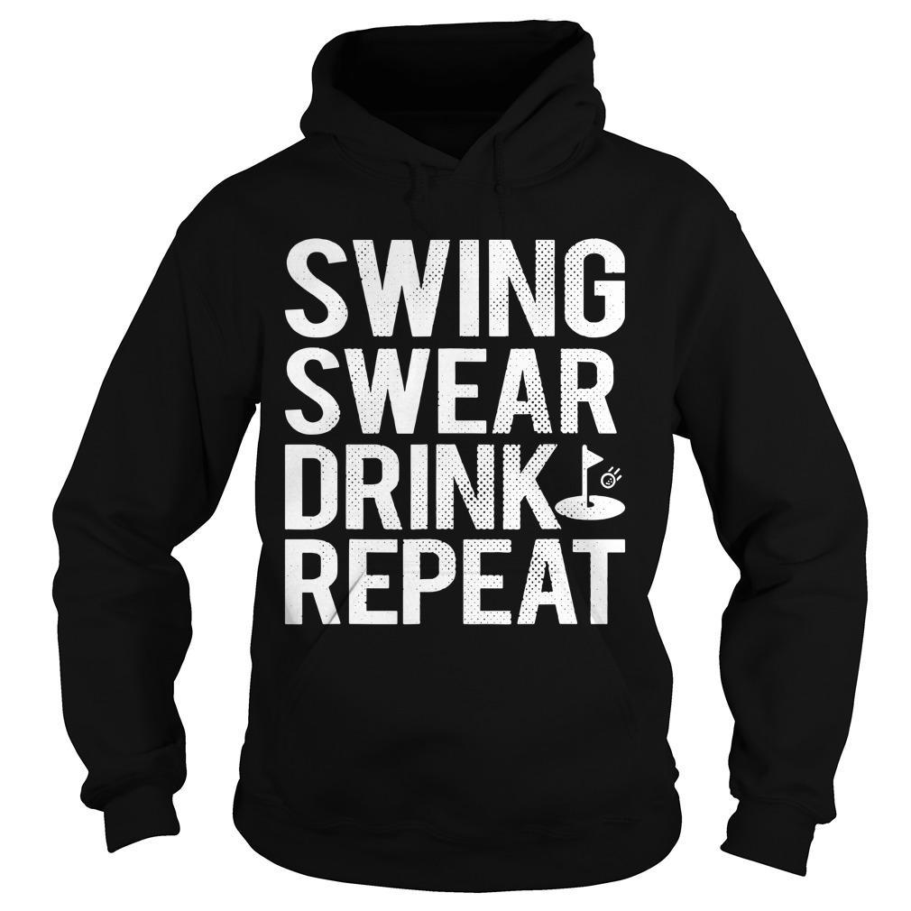 Swing Swear Drink Repeat Hoodie
