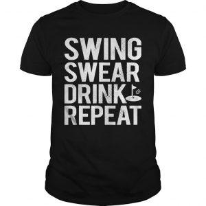 Swing Swear Drink Repeat Shirt