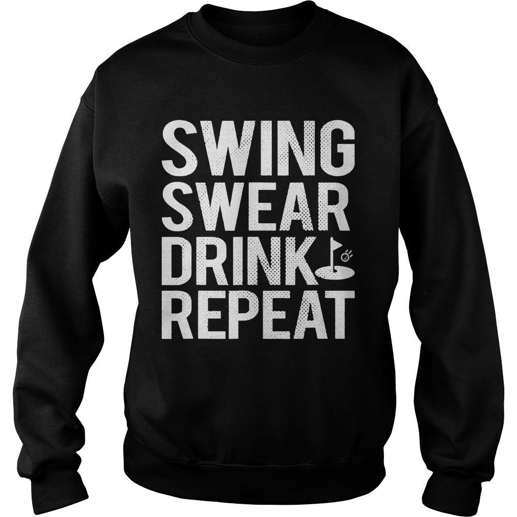 Swing Swear Drink Repeat Sweater