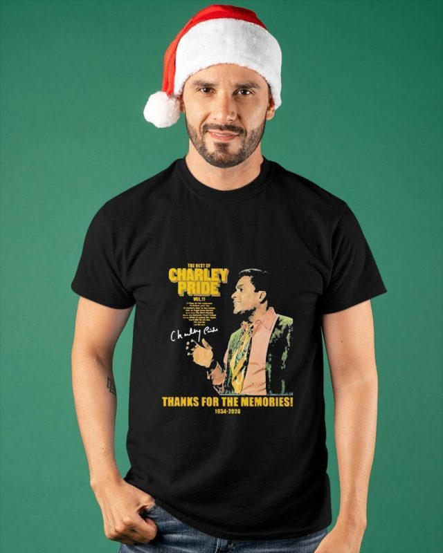 The Best Of Charley Pride Thank You For The Memories 1934 2020 Shirt