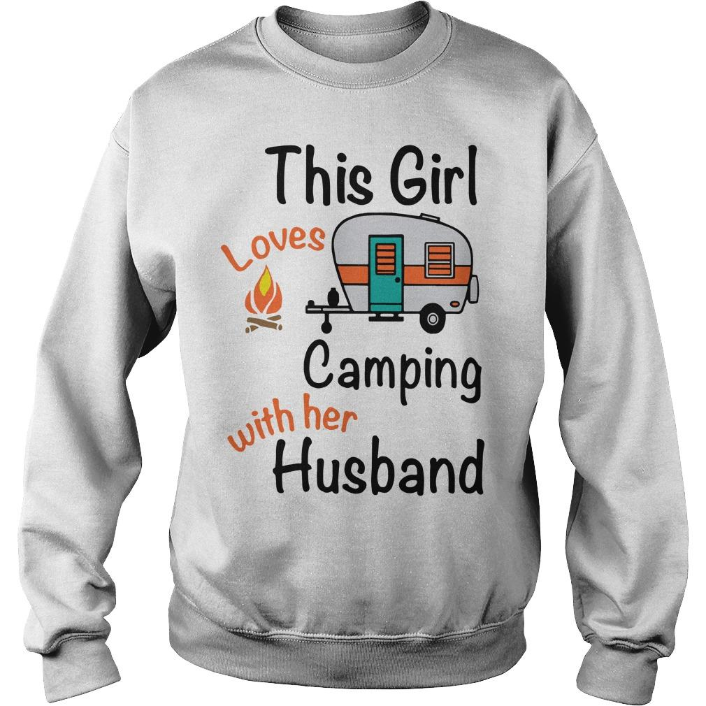 This Girl Who Loves Camping With Her Husband Sweater