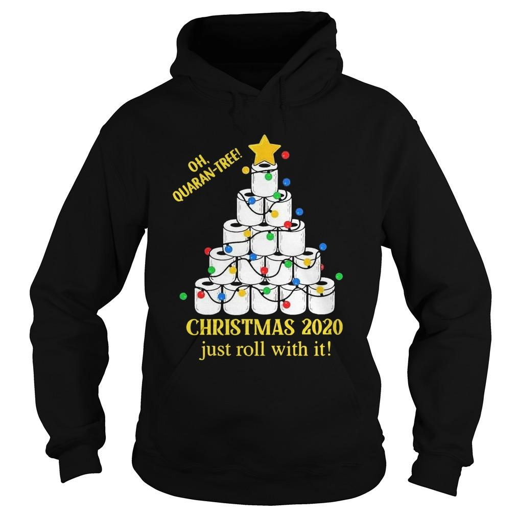 Toilet Paper Lights Oh Quaran Tree Christmas 2020 Just Roll With It Hoodie