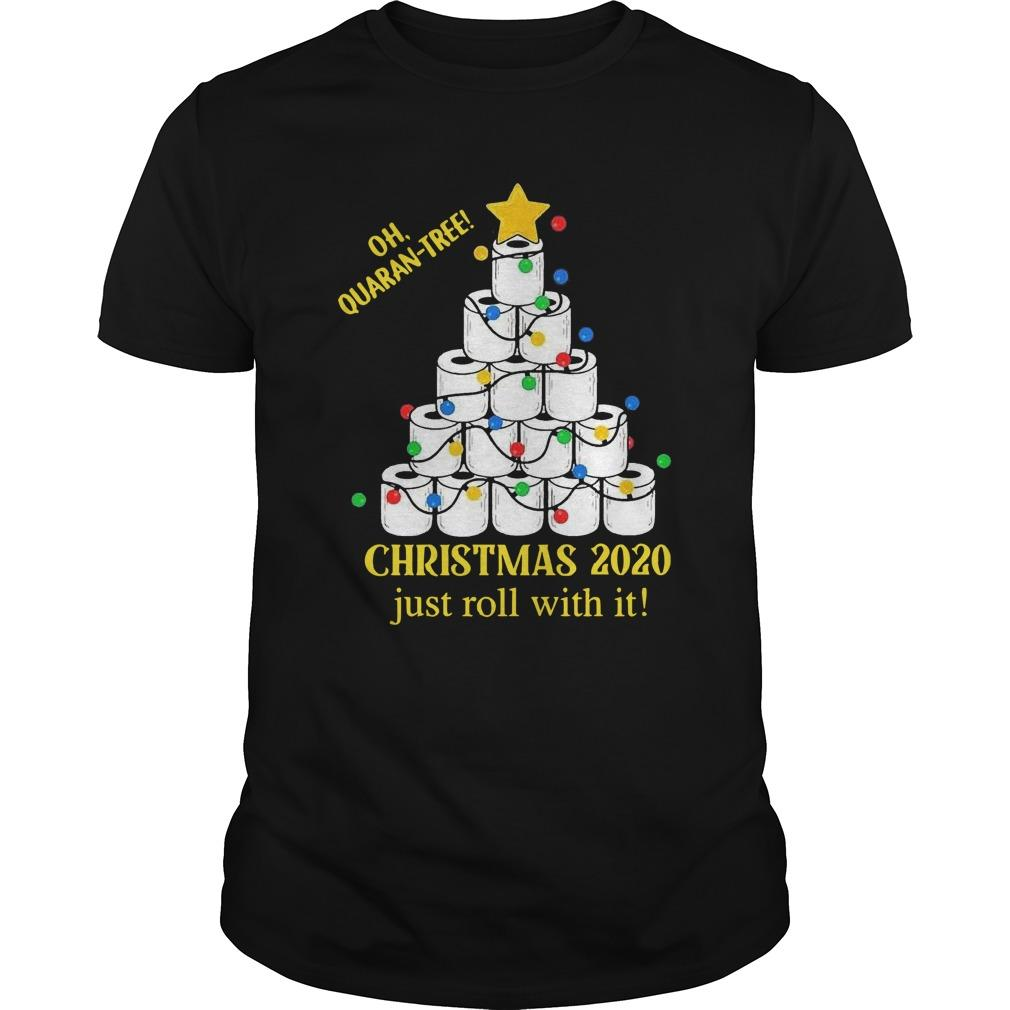 Toilet Paper Lights Oh Quaran Tree Christmas 2020 Just Roll With It Longsleeve