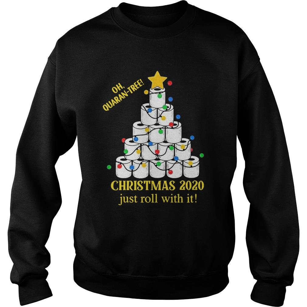 Toilet Paper Lights Oh Quaran Tree Christmas 2020 Just Roll With It Sweater