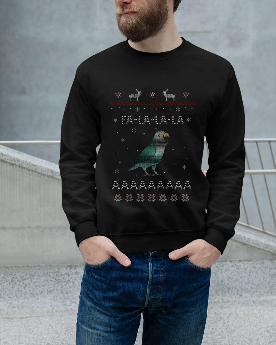 Ugly Christmas Parrot Fa La La La Aaaa Tank Top