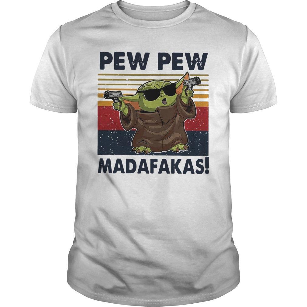 Vintage Baby Yoda Gun Pew Pew Madafakas Longsleeve
