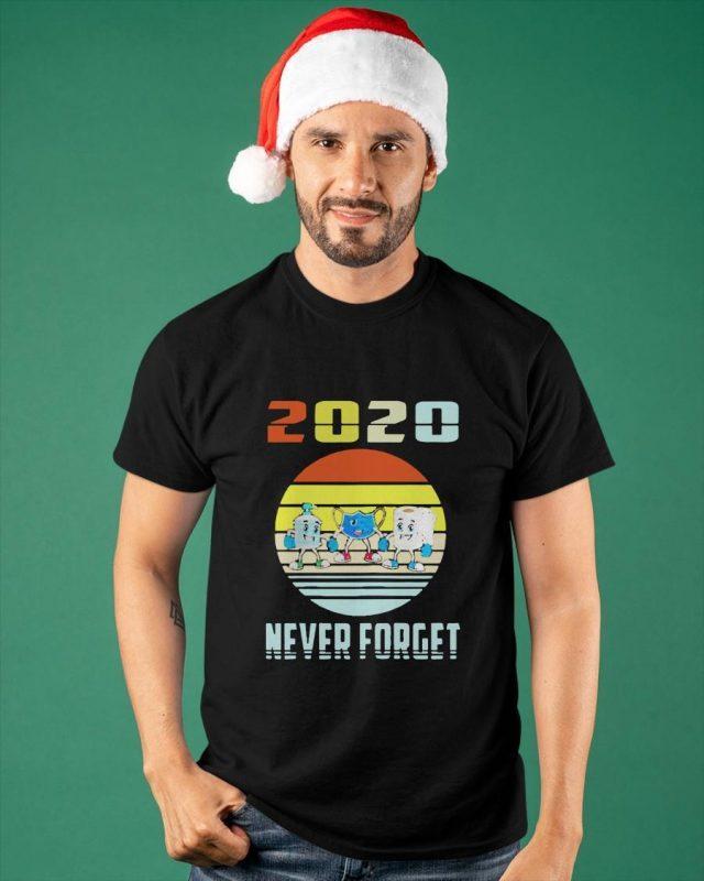 Vintage Mask Toilet Paper Never Forget 2020 Shirt