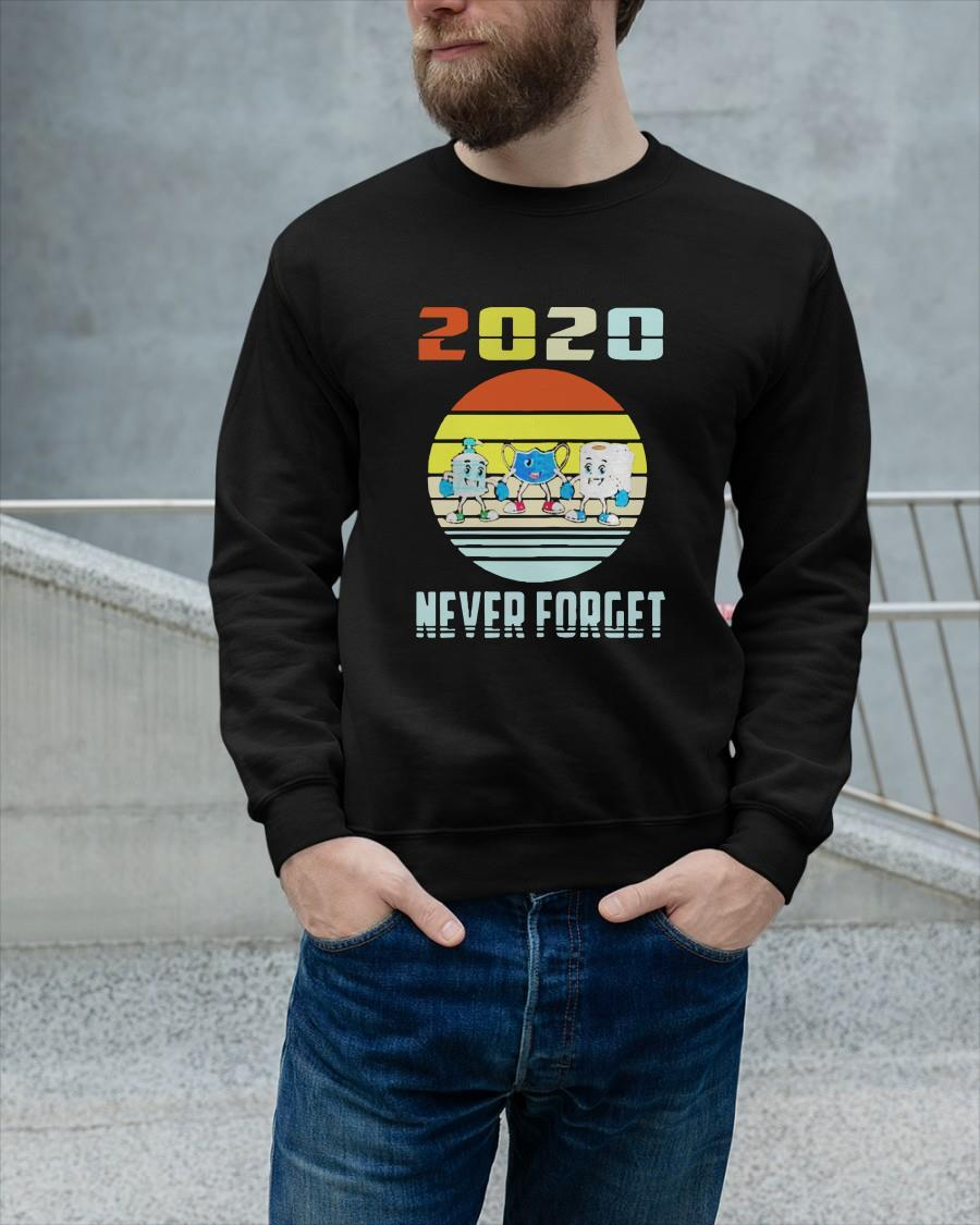 Vintage Mask Toilet Paper Never Forget 2020 Sweater