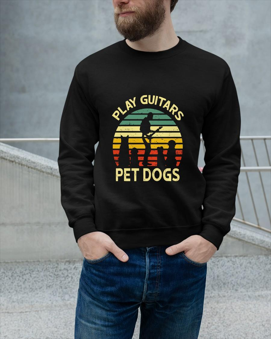Vintage Play Guitars Pet Dogs Longsleeve