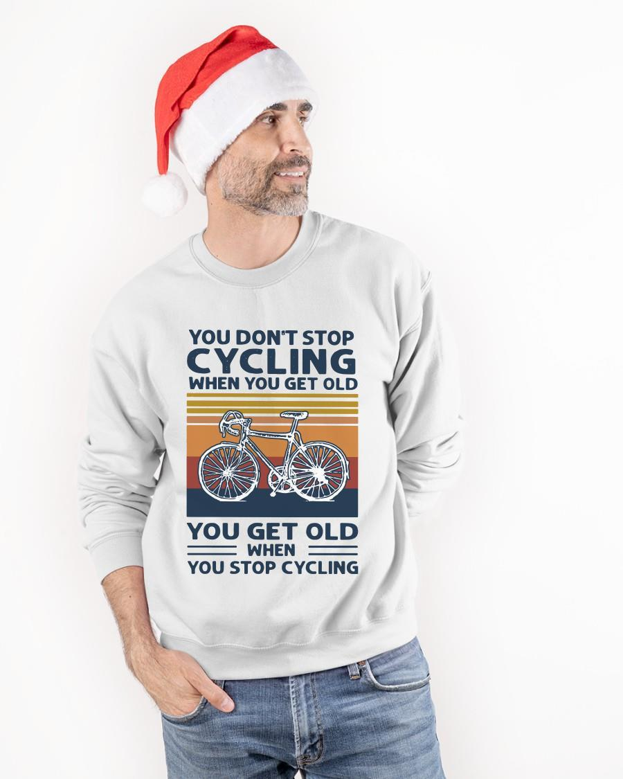 Vintage You Don't Stop Cycling When You Get Old Longsleeve