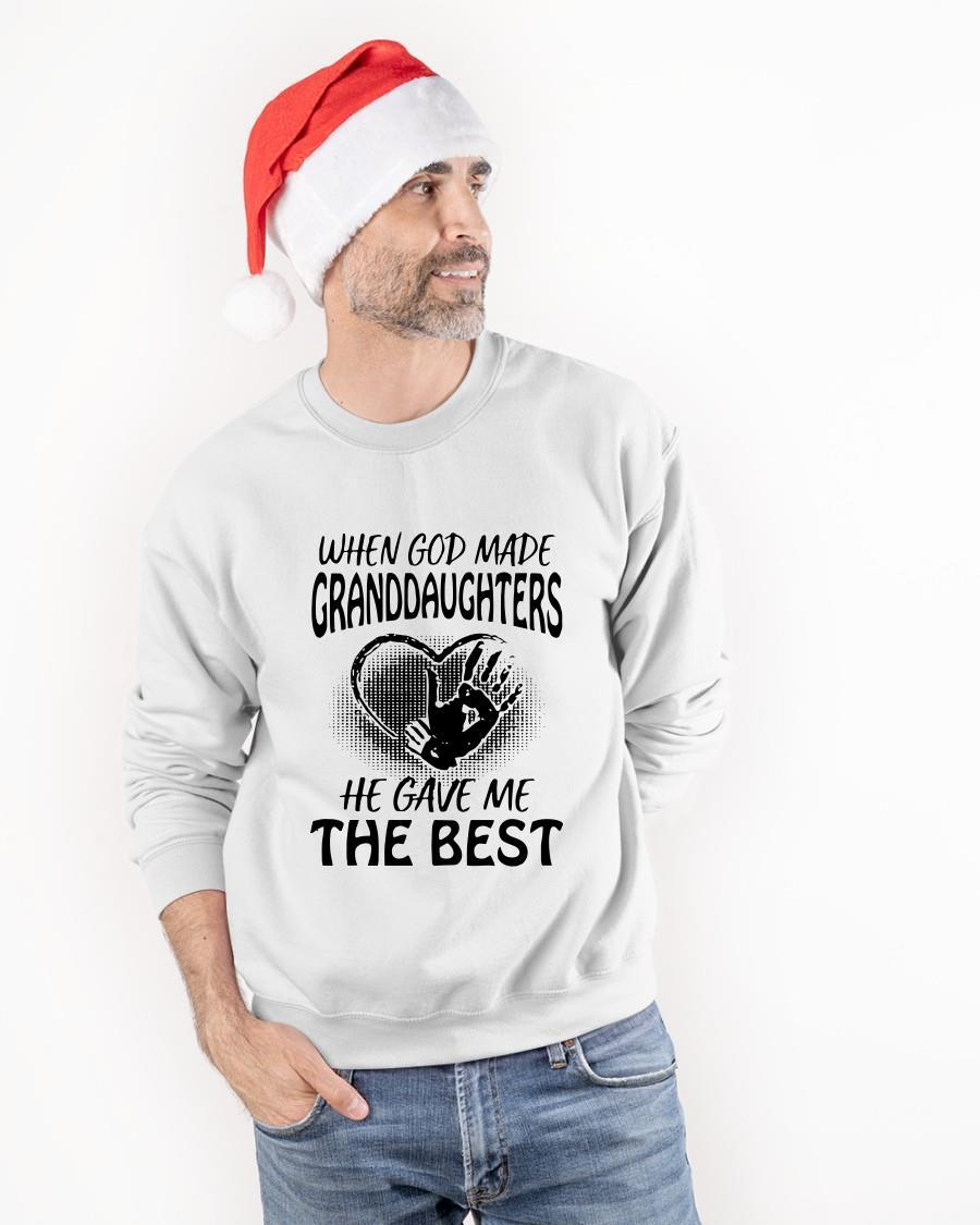 When God Made Granddaughters He Gave Me The Best Longsleeve