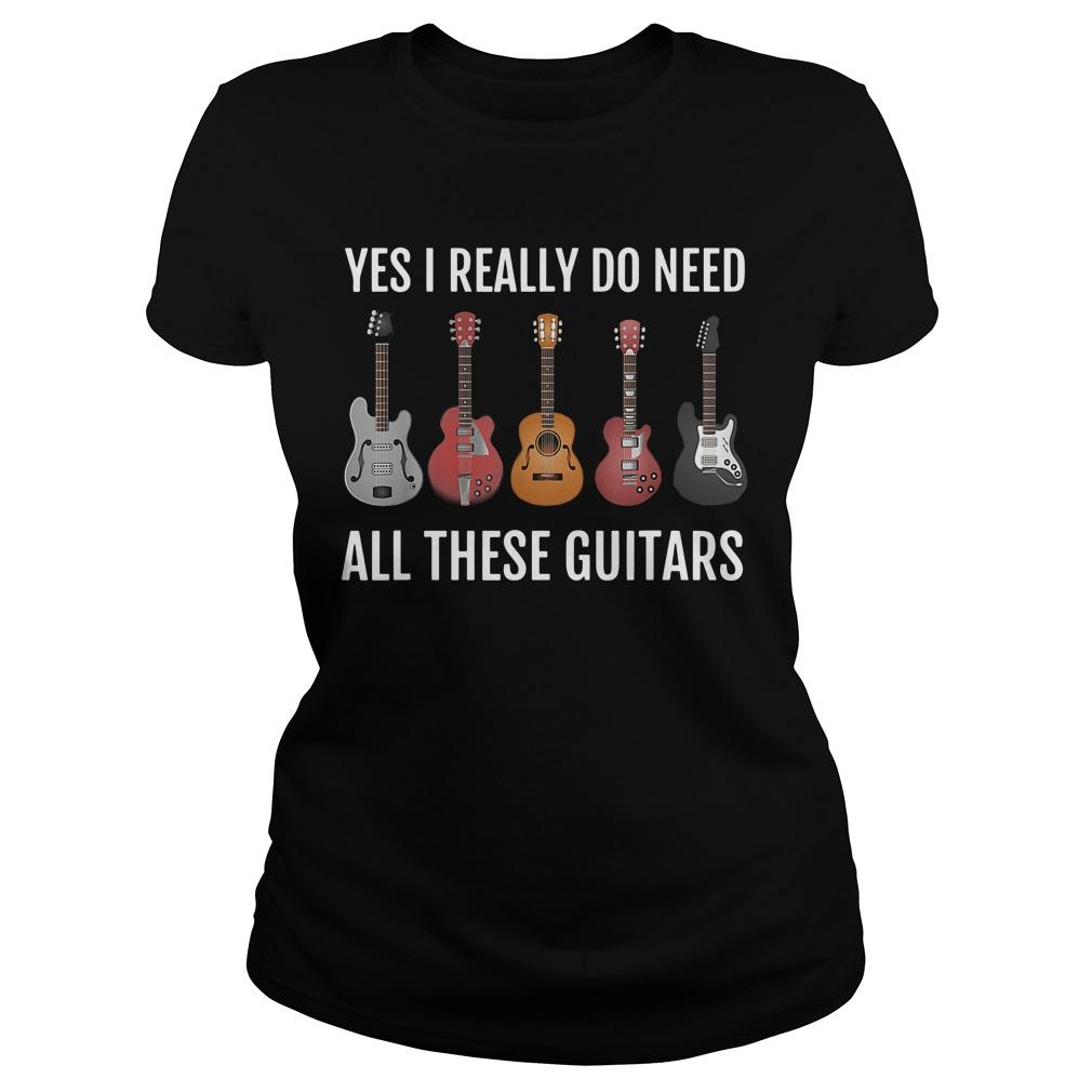 Yes I Really Do Need All These Guitars Longsleeve