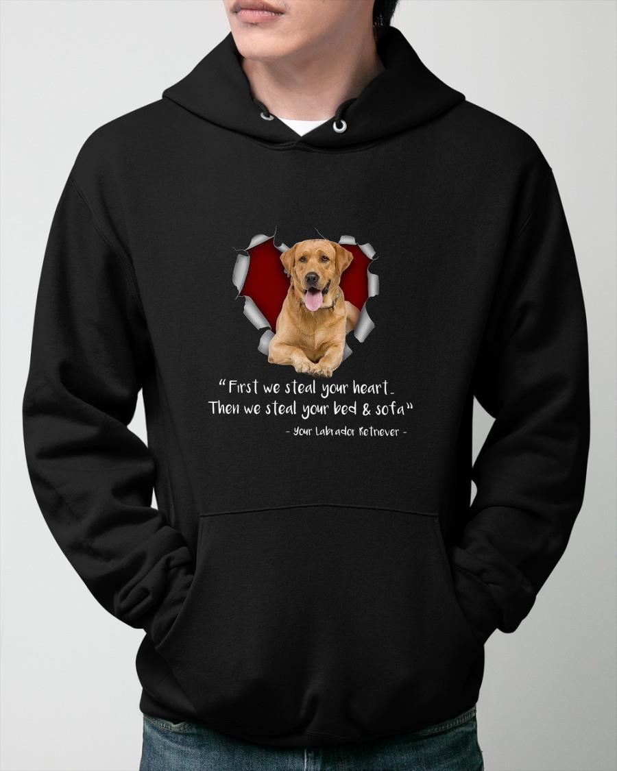 Your Labrador Retriever First We Steal Your Heart Then We Steal Hoodie
