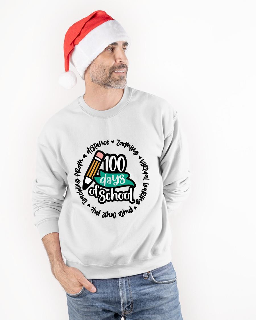 100 Days Of School Zooming Virtual Learning Sweater