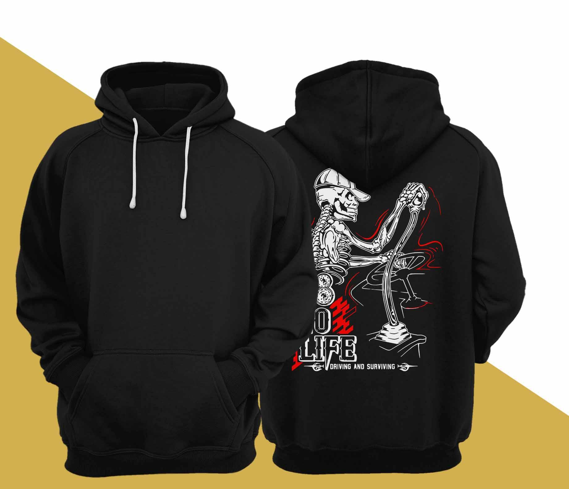 18 To Life Driving And Surviving Hoodie
