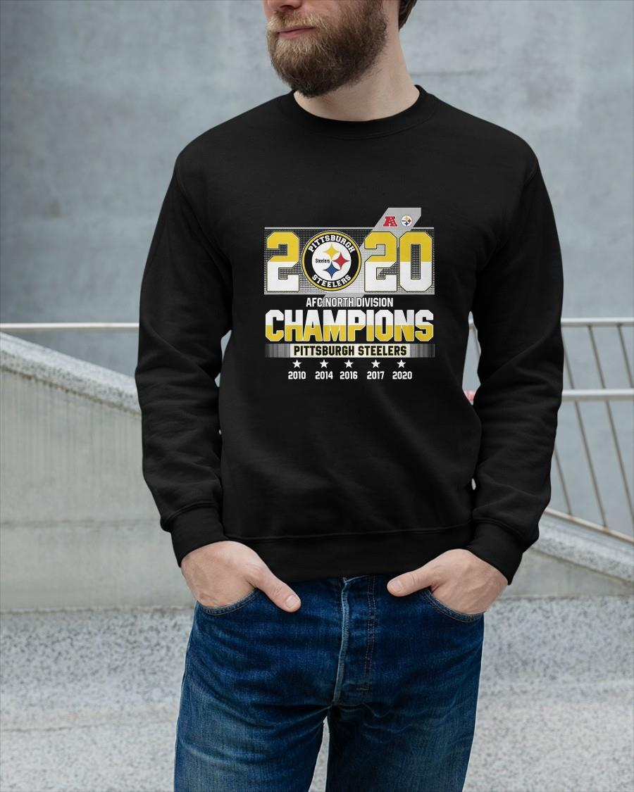 2020 Afc North Division Champions Pittsburgh Steelers Sweater