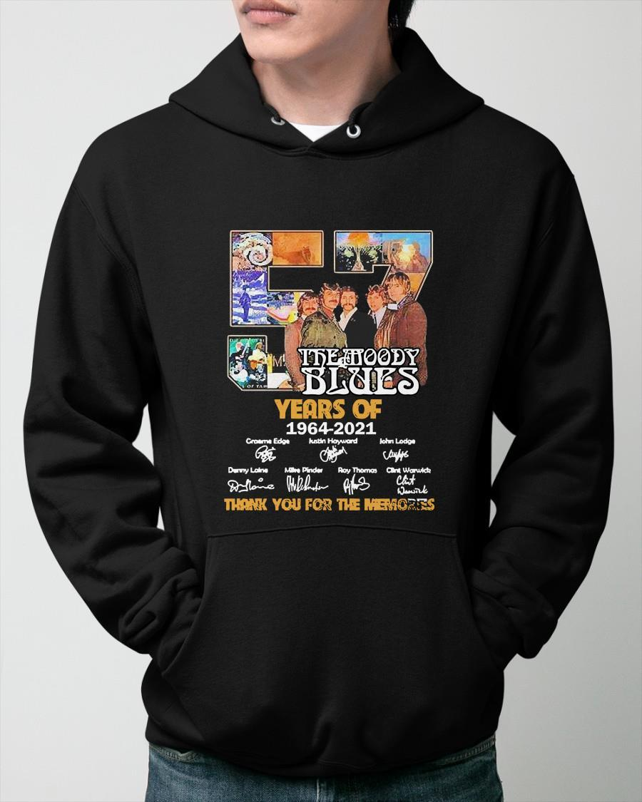 57 The Moody Blues Years Of 1964 2021 Thank You For The Memories Signatures Hoodie