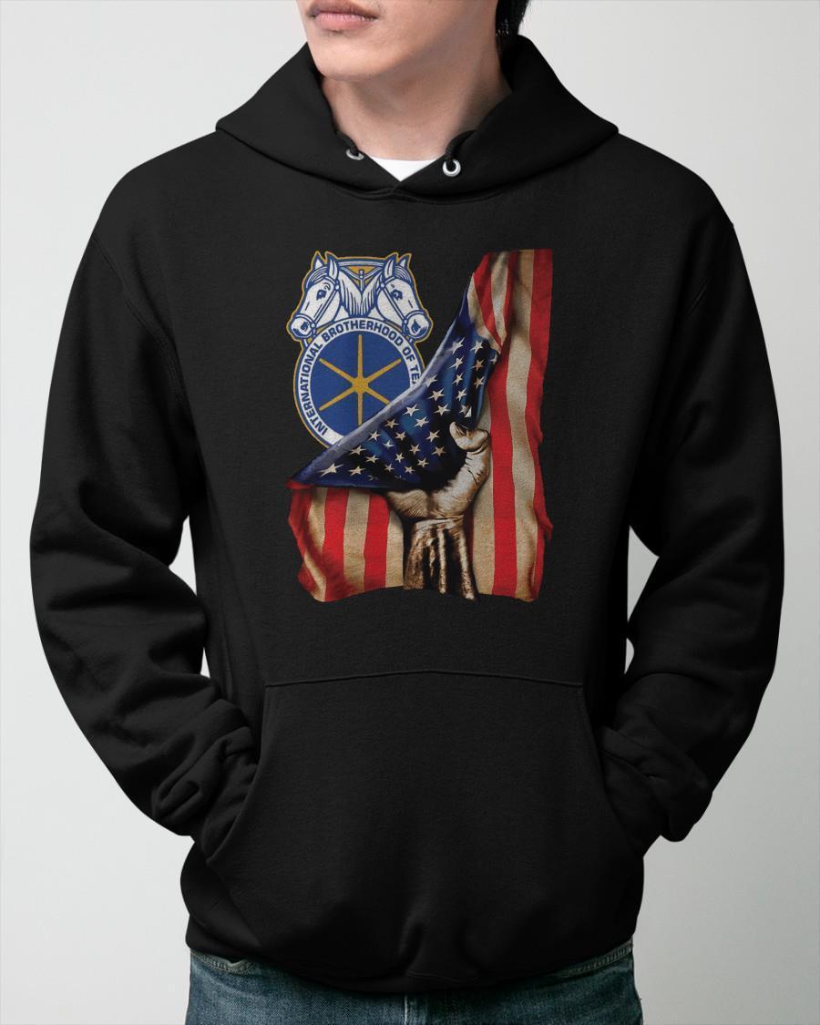 American Flag International Brotherhood Of Teamsters Hoodie