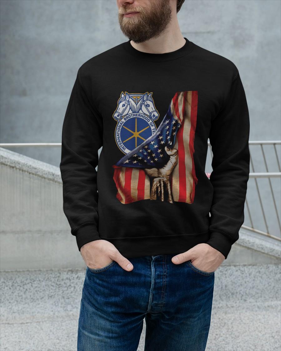 American Flag International Brotherhood Of Teamsters Sweater