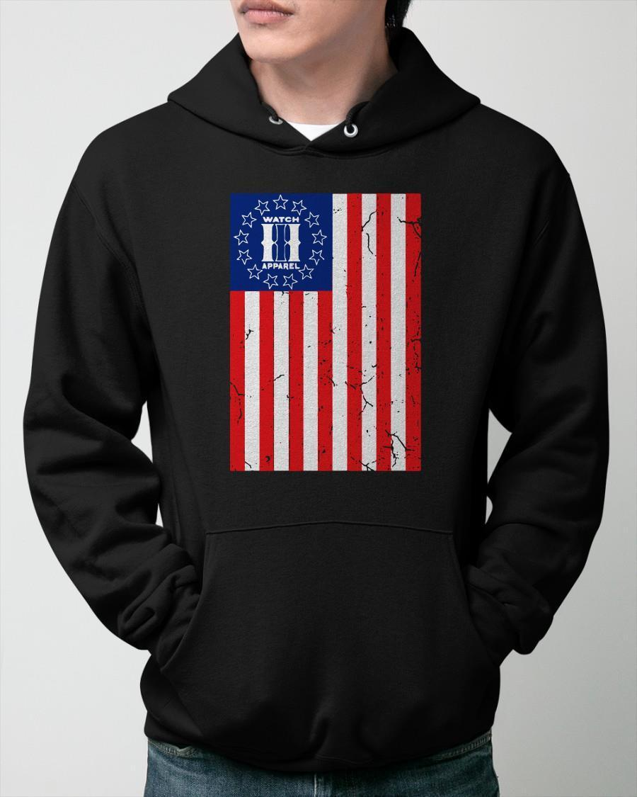 American Flag Watch Apparel Hoodie