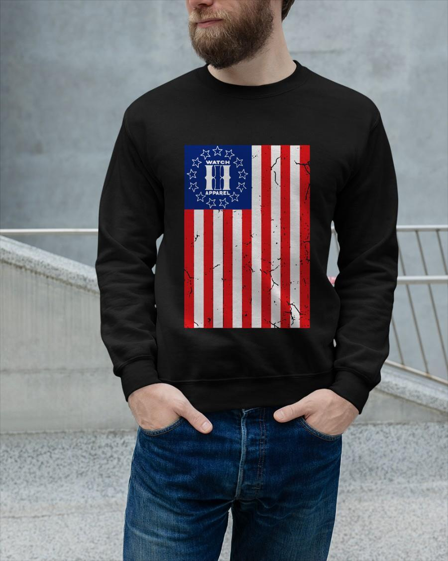 American Flag Watch Apparel Sweater