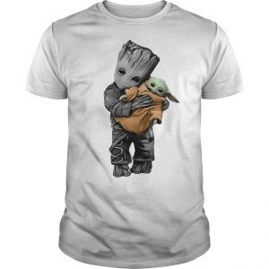 Baby Groot Hugging Baby Yoda Shirt