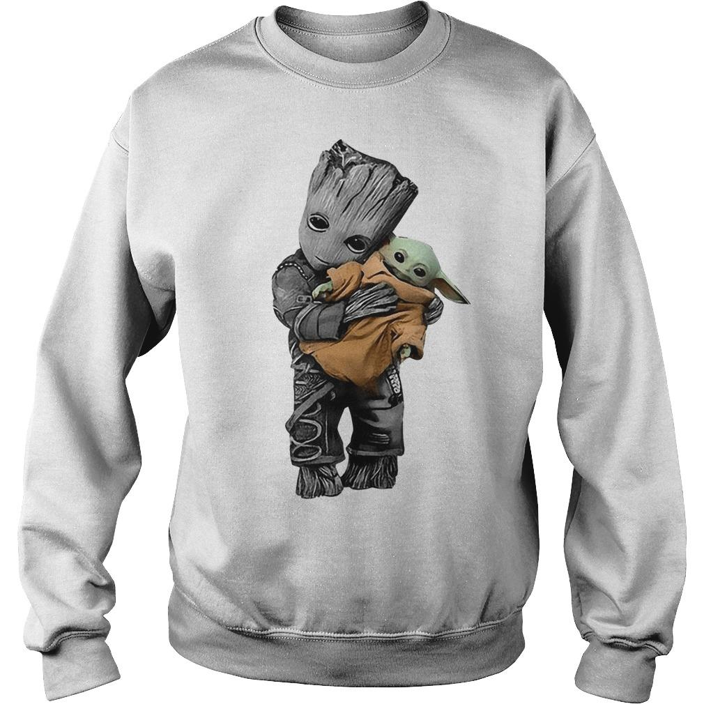 Baby Groot Hugging Baby Yoda Sweater