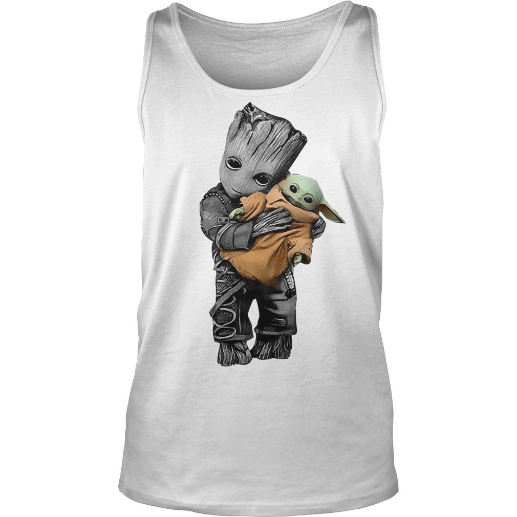 Baby Groot Hugging Baby Yoda Tank Top