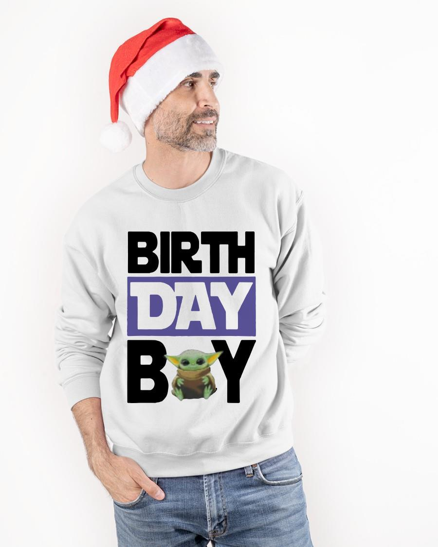 Baby Yoda Birthday Boy Longsleeve
