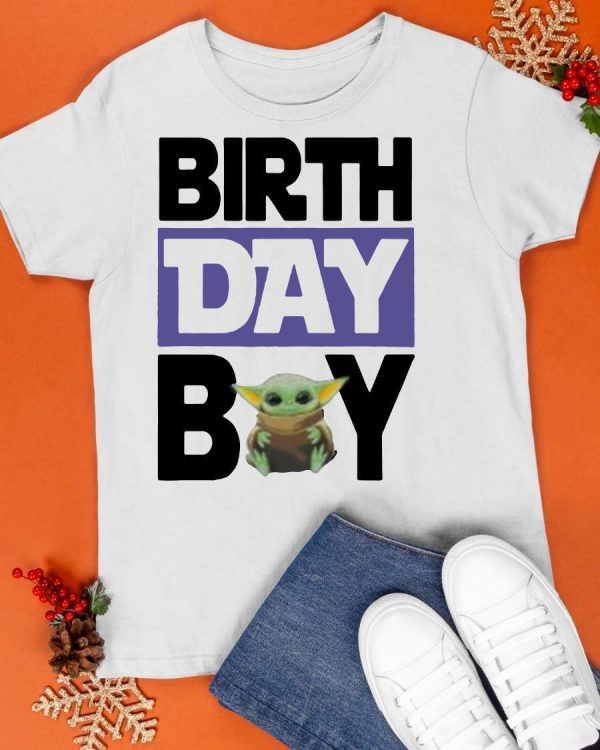 Baby Yoda Birthday Boy Shirt
