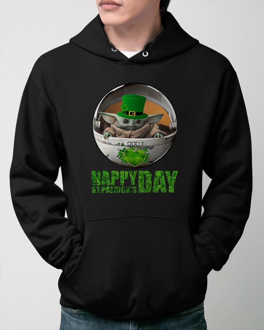 Baby Yoda Happy St Patrick's Day Hoodie