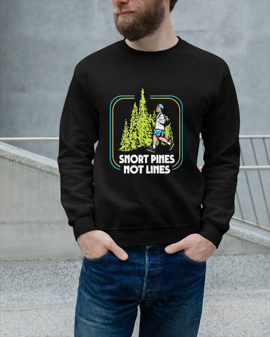 Camping Boy Snort Pines Not Lines Longsleeve