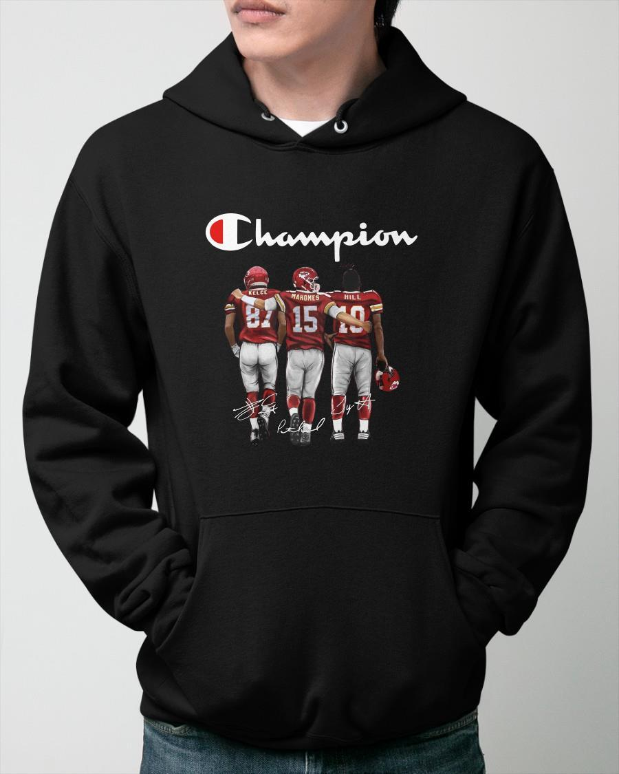 Champion Kelce Mahomes Hill Signatures Hoodie