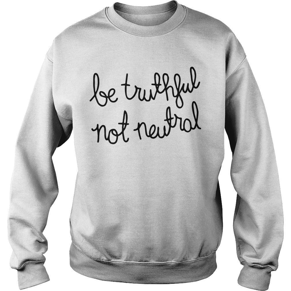 Christiane Amanpour Be Truthful Not Neutral Sweater