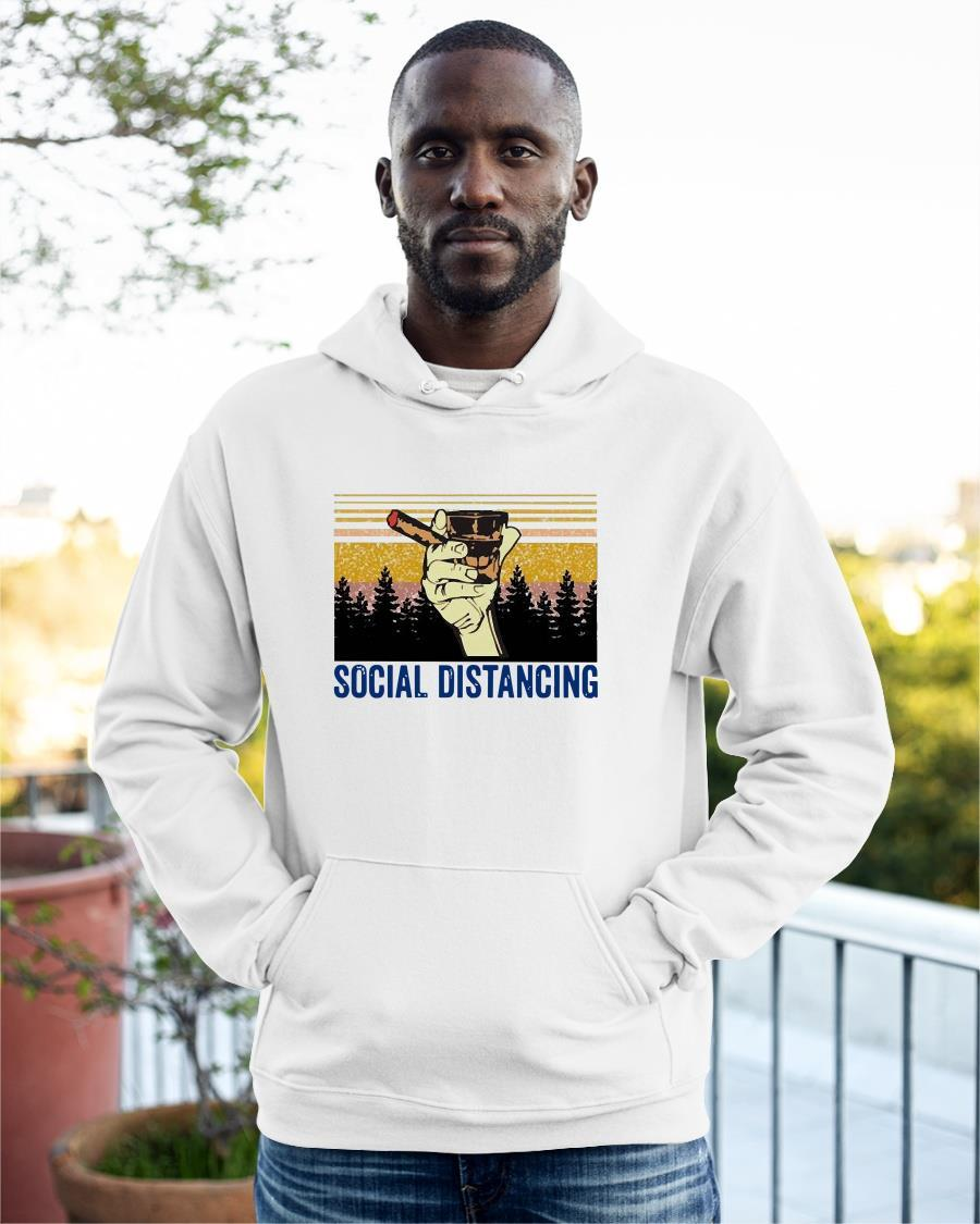 Cigar And Bourbon Social Distancing Hoodie