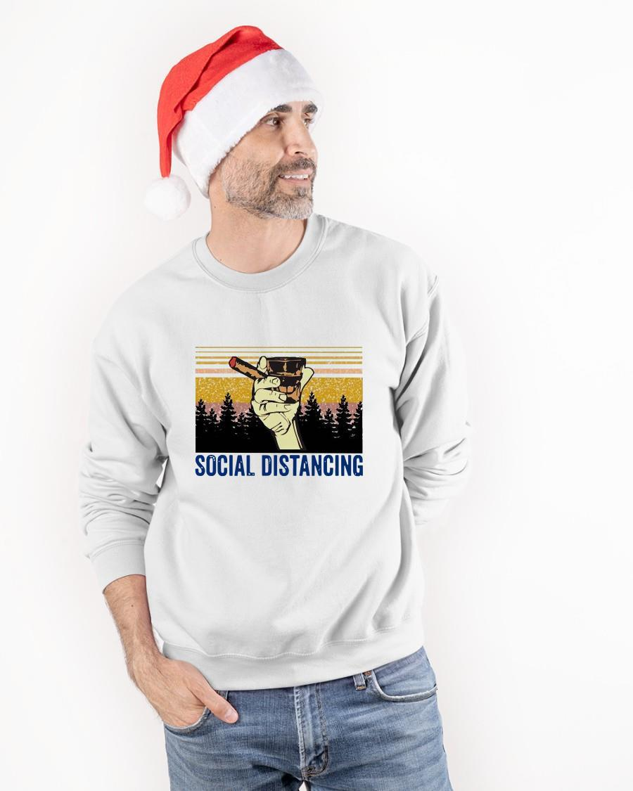 Cigar And Bourbon Social Distancing Sweater