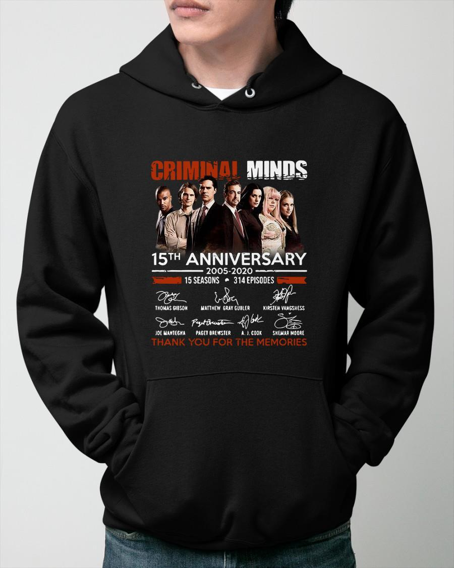 Criminal Minds 15th Anniversary Thank You For The Memories Hoodie