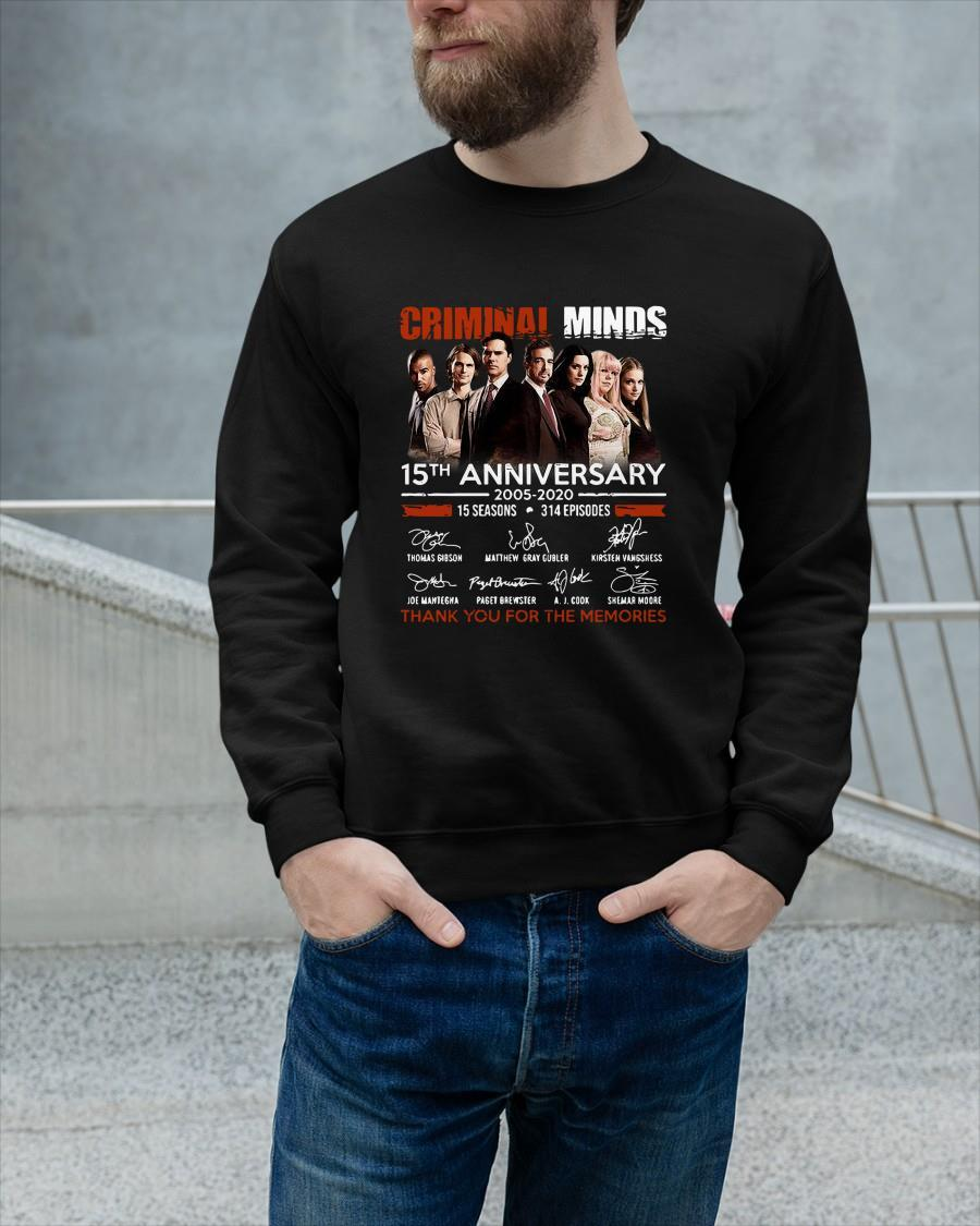 Criminal Minds 15th Anniversary Thank You For The Memories Longsleeve