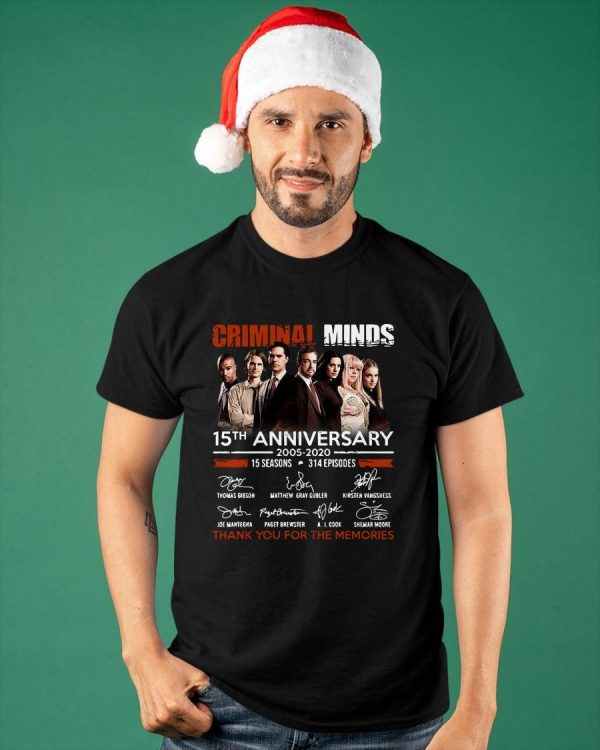 Criminal Minds 15th Anniversary Thank You For The Memories Shirt