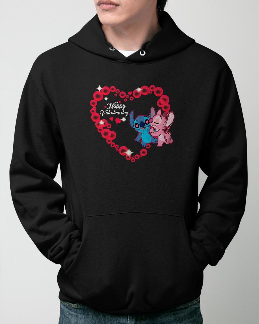 Disney Stitch And Lilo Happy Valentine Day Hoodie