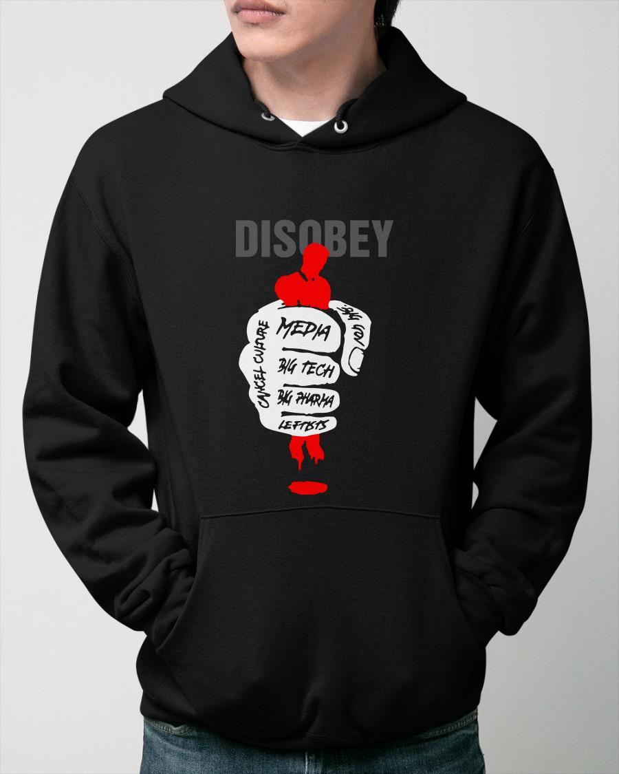 Disobey Media Big Tech Big Pharma Hoodie