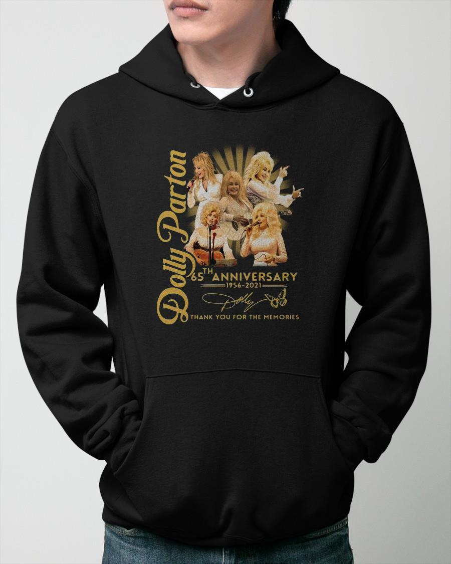 Dolly Parton 65th Anniversary 1956 2021 Signature Thank You For The Memories Hoodie